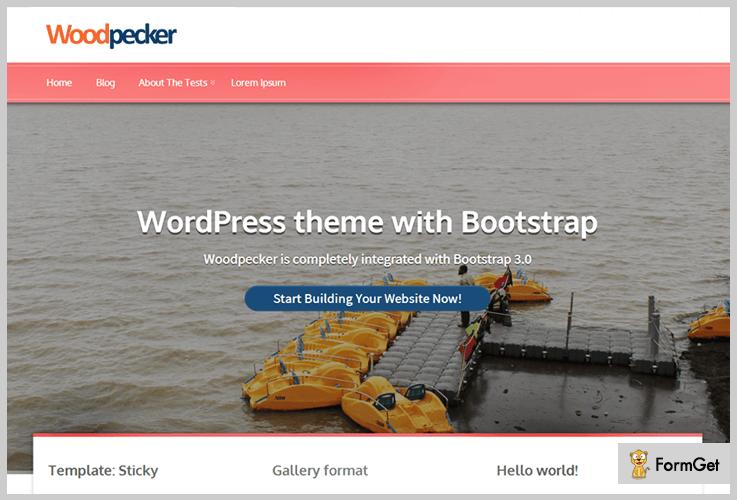 WoodPecker 6. Woodpecker Beginner WordPress Theme