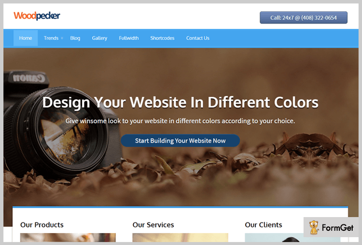 Woodpecker Tech WordPress Theme