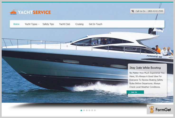 YachtService Sailing WordPress Theme