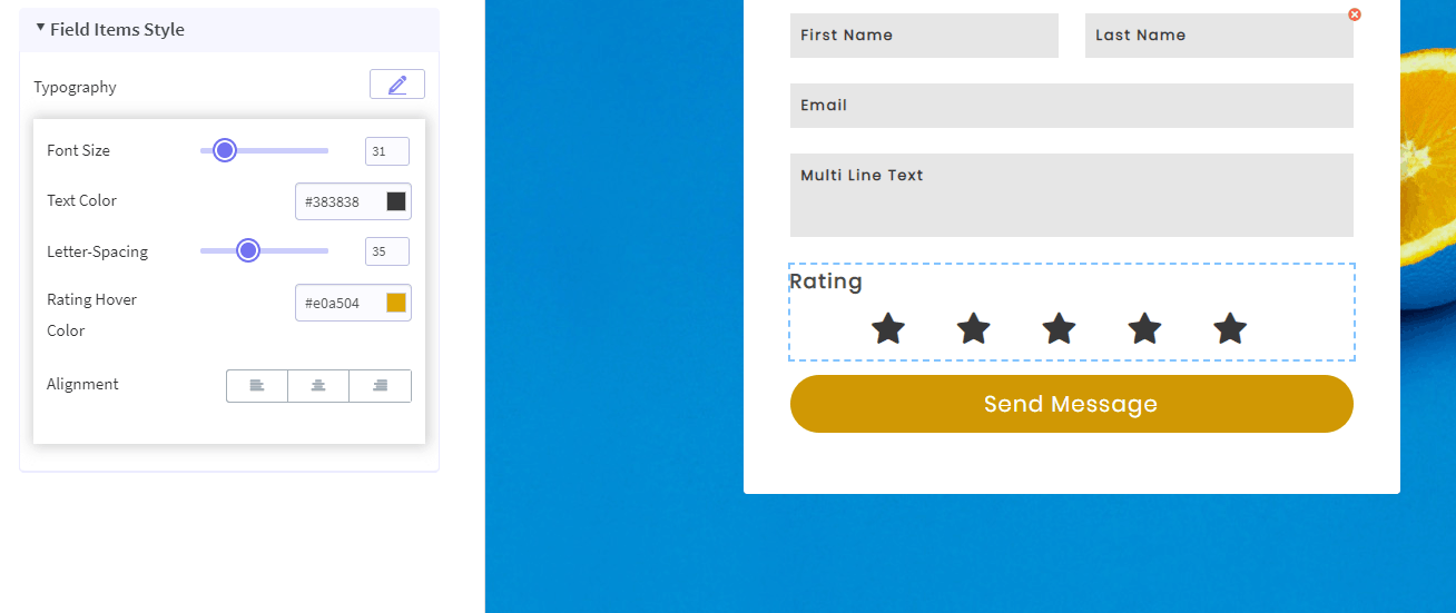 FormGet Star Rating