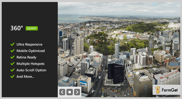 360 Panoramic Image Viewer jQuery Plugin