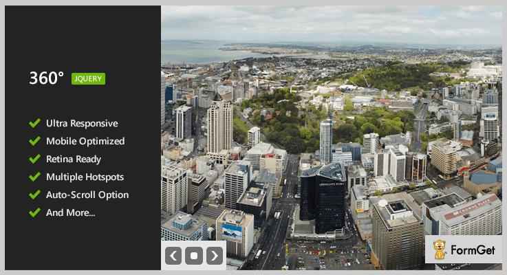 360 Panoramic jQuery Image Viewer Plugin