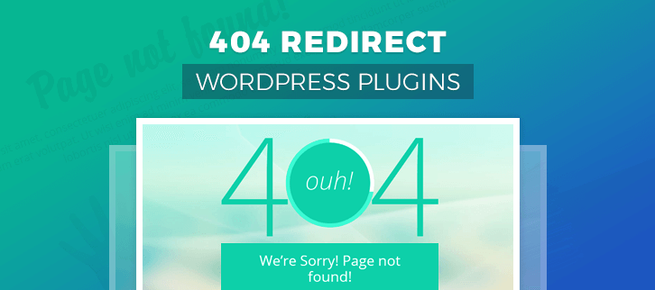 404 Redirect WordPress Plugins