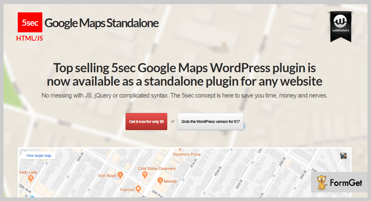 5sec Google Maps jQuery Google Map Plugin