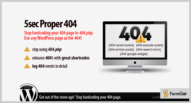 5sec Proper 404 Redirect WordPress Plugin