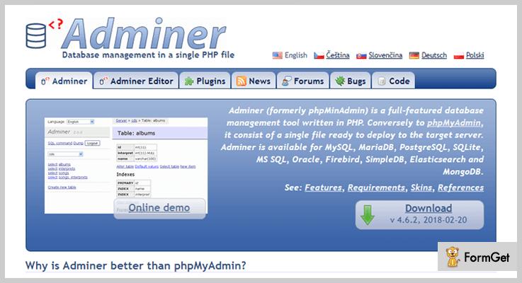 ARI Adminer Database WordPress Plugin