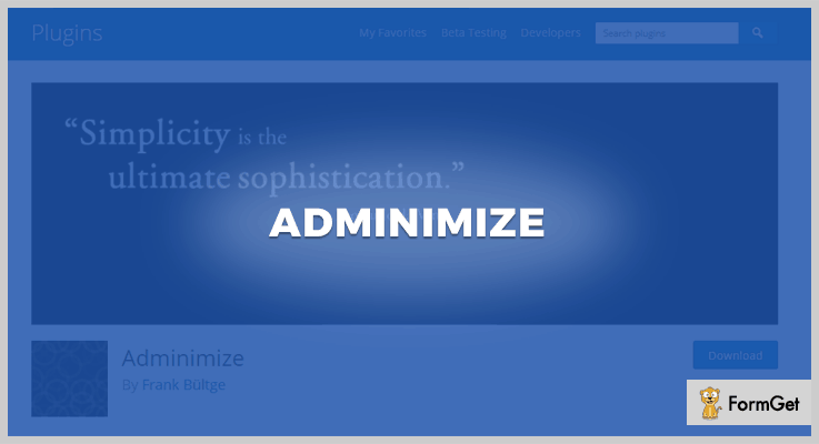 Adminimize WordPress Admin Plugin