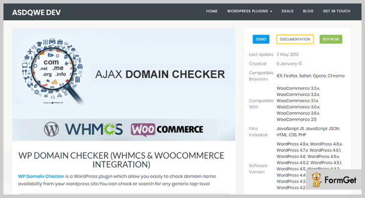 Ajax Domain Checker WordPress Plugins