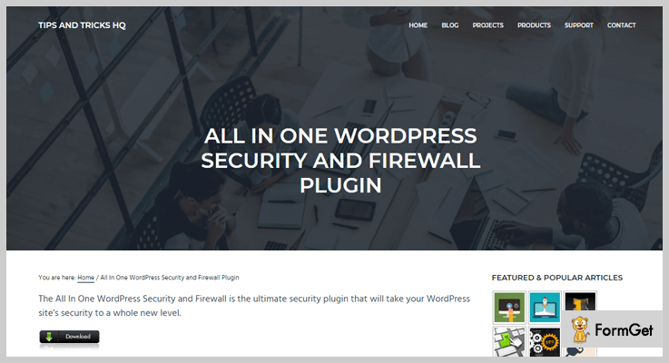 All In One WP Security & WordPress Firewall Plugin