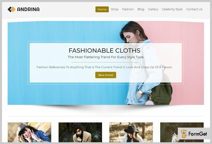 Andrina Girly WordPress Theme