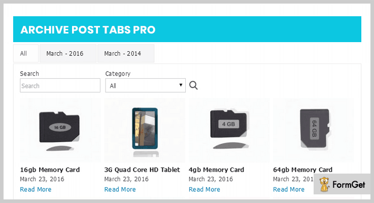Archive Post Tabs Pro WordPress Plugin