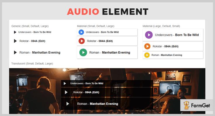 Audio Element jQuery Audio Plugin