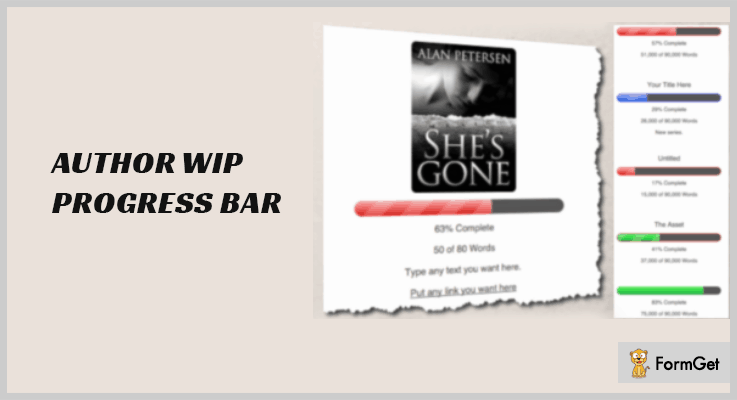 Author WIP WordPress Progress Bar Plugin