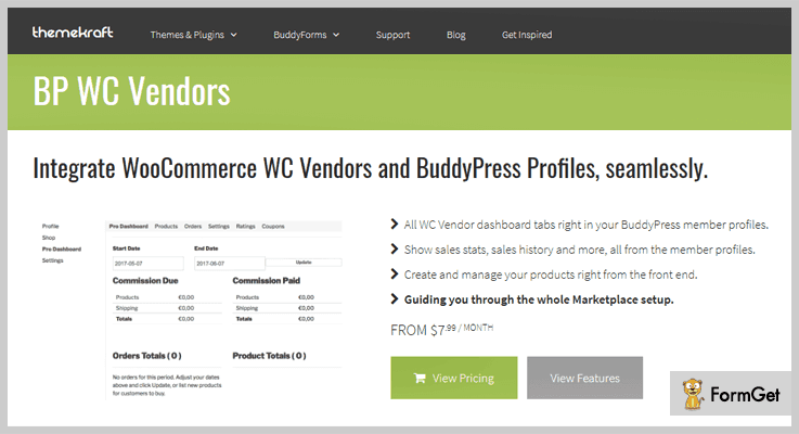 BP WC Vendors WordPress Plugin