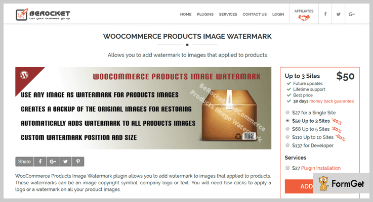 BeRocket Watermark WordPress Plugin