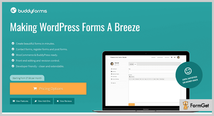 BuddyForms WooCommerce Simple Auction WordPress Plugin