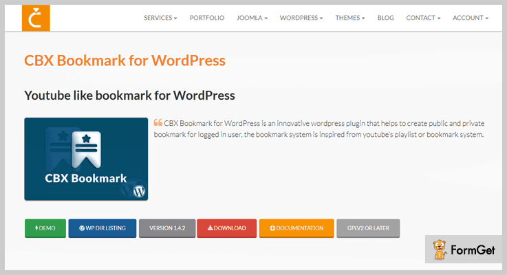 CBX WordPress Bookmark Plugin