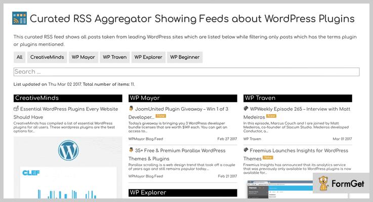 CM Curated RSS Aggregator WordPress Aggregator Plugins