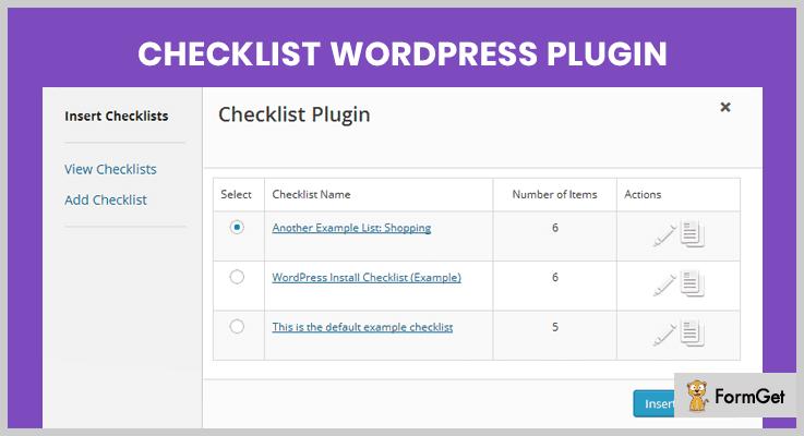 Checklist WordPress Plugin WordPress Checklist Plugins