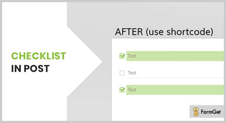 Checklist in Post WordPress Checklist Plugins