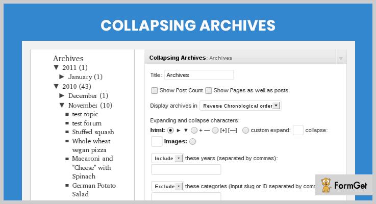 Collapsing Archives WordPress Plugin