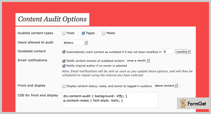 Content Audit WordPress Audit Plugins