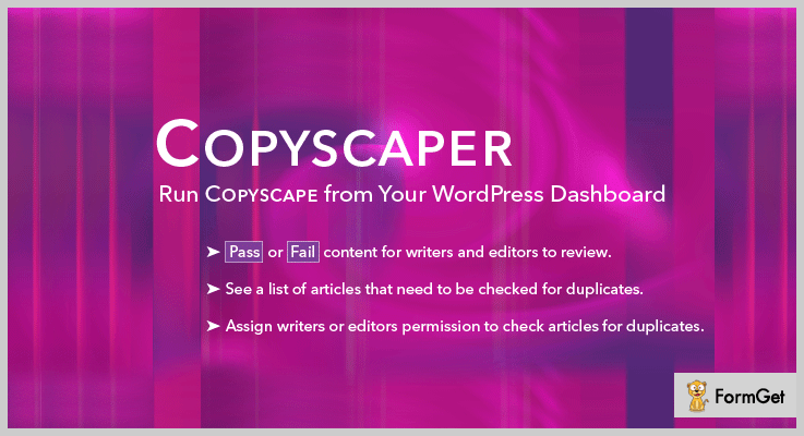 Copyscaper Plagiarism Checker WordPress Plugin