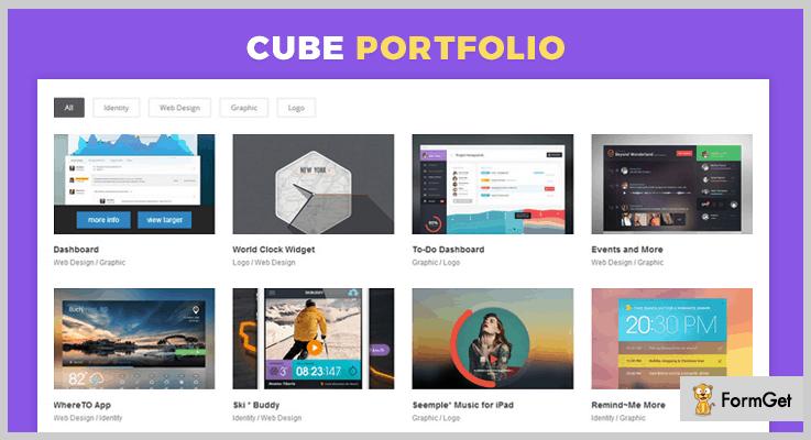 Cube Portfolio jQuery Grid Plugins