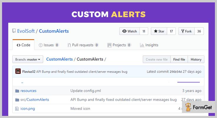 CustomAlerts jQuery Alert Plugin