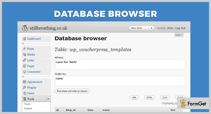 Database Browser WordPress Plugin