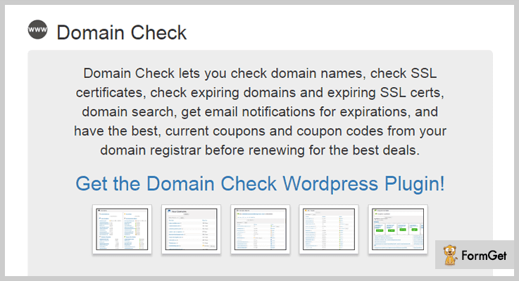 Domains Check WordPress Plugins