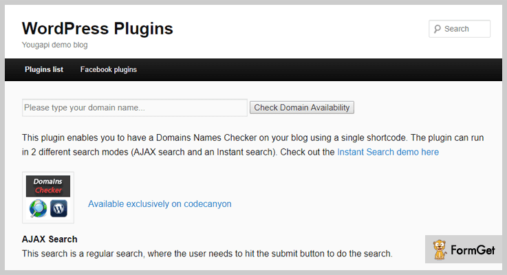Domains Names Checker WordPress Plugins