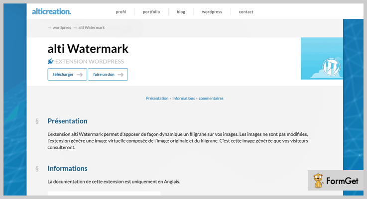 Watermark WordPress Plugin