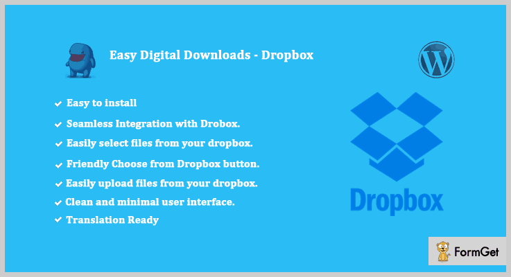 Easy Digital Downloads Dropbox WordPress Plugin