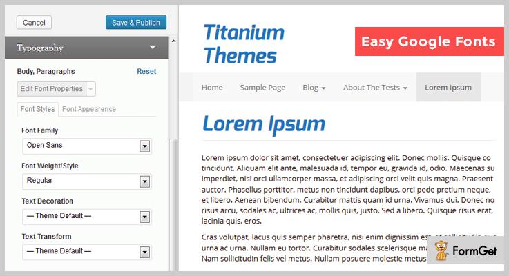 Easy Google WordPress Font Plugin