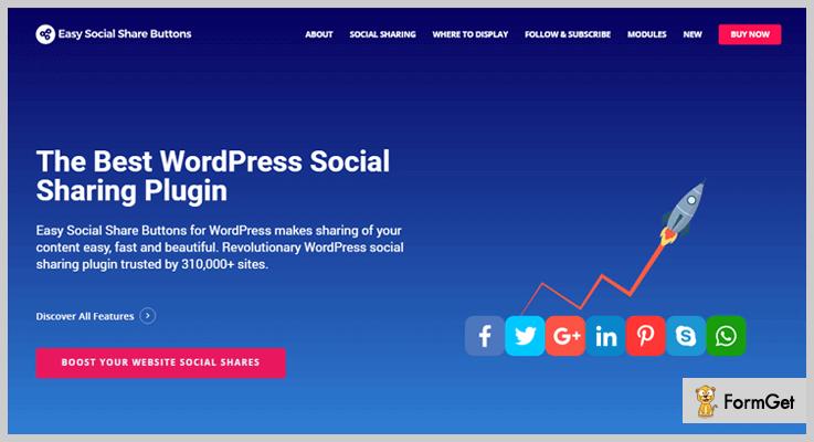 Easy Social Share Buttons Marketing WordPress Plugin