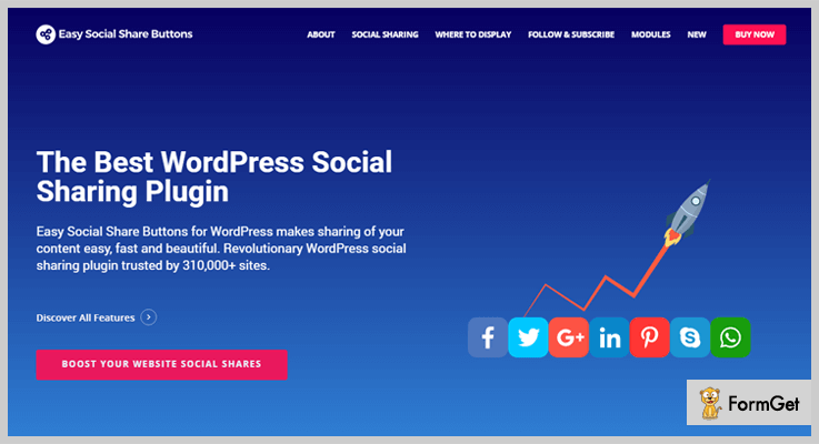 Easy Social Share Buttons LinkedIn WordPress Plugin