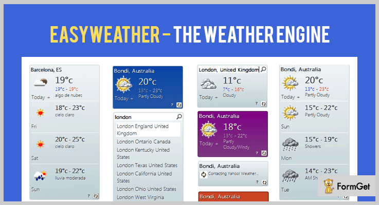 EasyWeather jQuery Weather Plugins