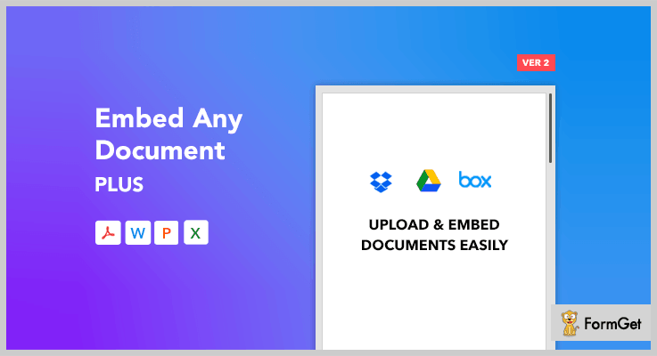 Embed Any Document Plus Dropbox WordPress Plugin