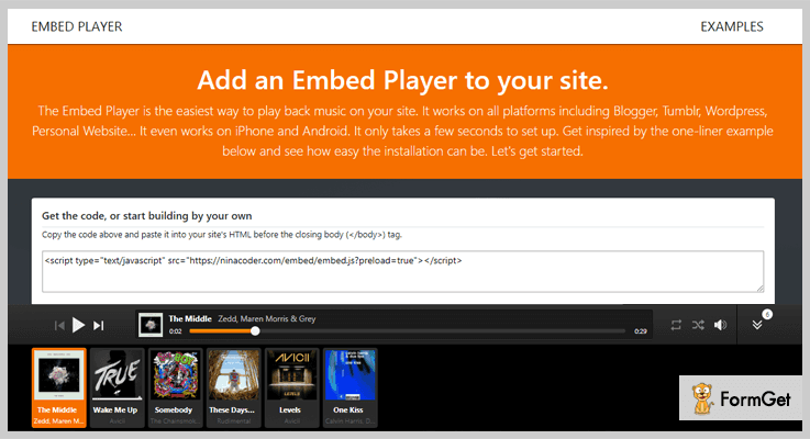 Embed Player jQuery Audio Plugin