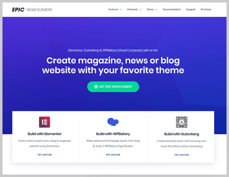 Epic News Element - News WordPress plugin