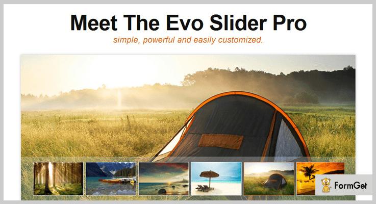Evo Slider Pro jQuery Image Slider Plugin