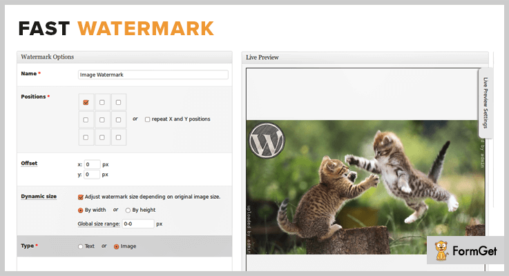 Fast Watermark WordPress Plugin