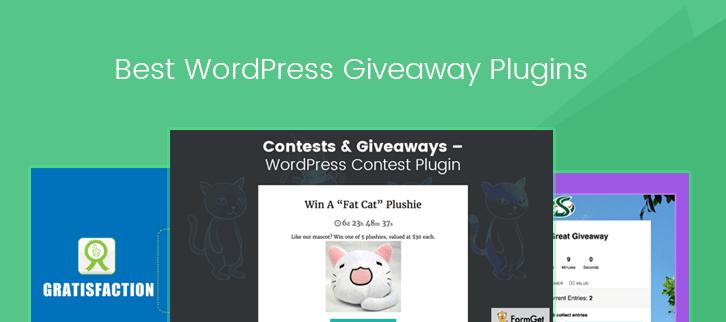 5+ Best WordPress Giveaway Plugins 2019 | FormGet