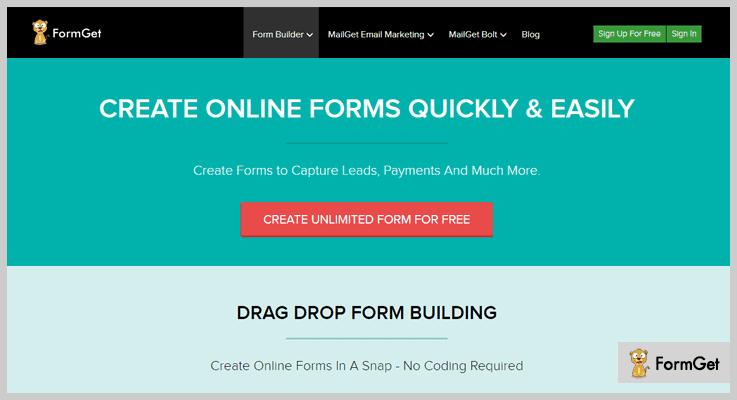 FormGet Contact Form Marketing WordPress Plugin