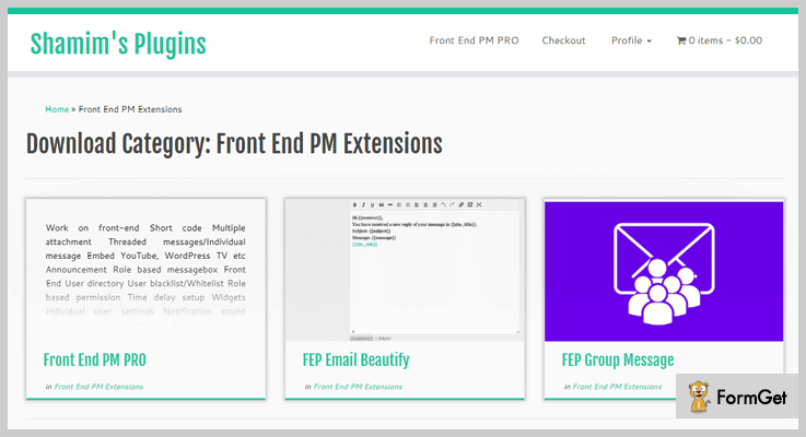 Front End PM Private Message WordPress Plugins
