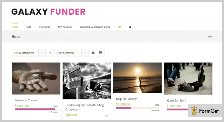 GalaxyFunder Crowdfunding WordPress Plugins
