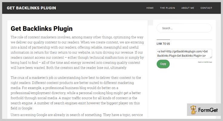 Get Backlinks WordPress Backlinks Plugins
