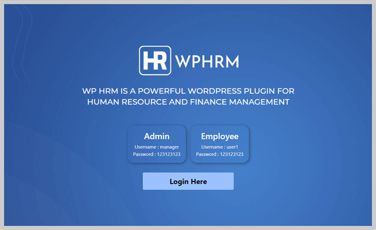 Employee And HR Manager Plugin - Best WordPress Attendance Plugins