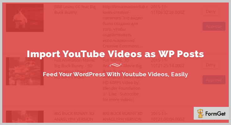Import YouTube Videos as WP Posts Video Importer WordPress Plugin